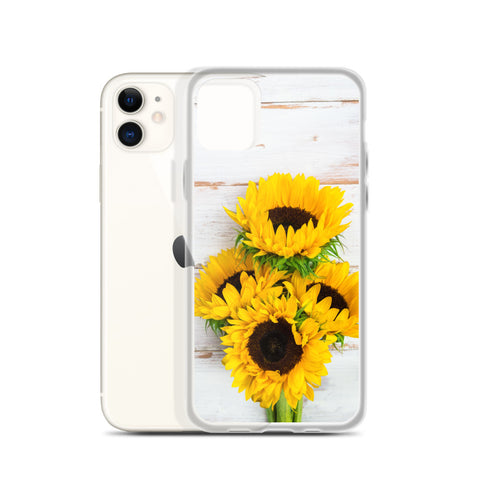 Sunflowers Wood Iphone 11 Pro Max, Yellow Floral Flower Cute Pretty Case iphone XS, XS Max, XR, X, 7, 7 Plus, 8, 8F, 6, 6s, 6 Plus - Starcove Design
