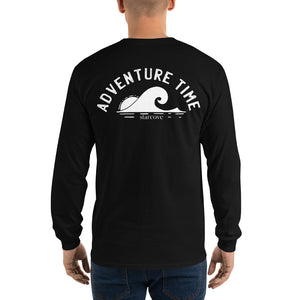 Adventure Time Long Sleeve TShirt, Back Print Ocean Wave Sun Beach Men Women Tee Gift Graphic Clothing