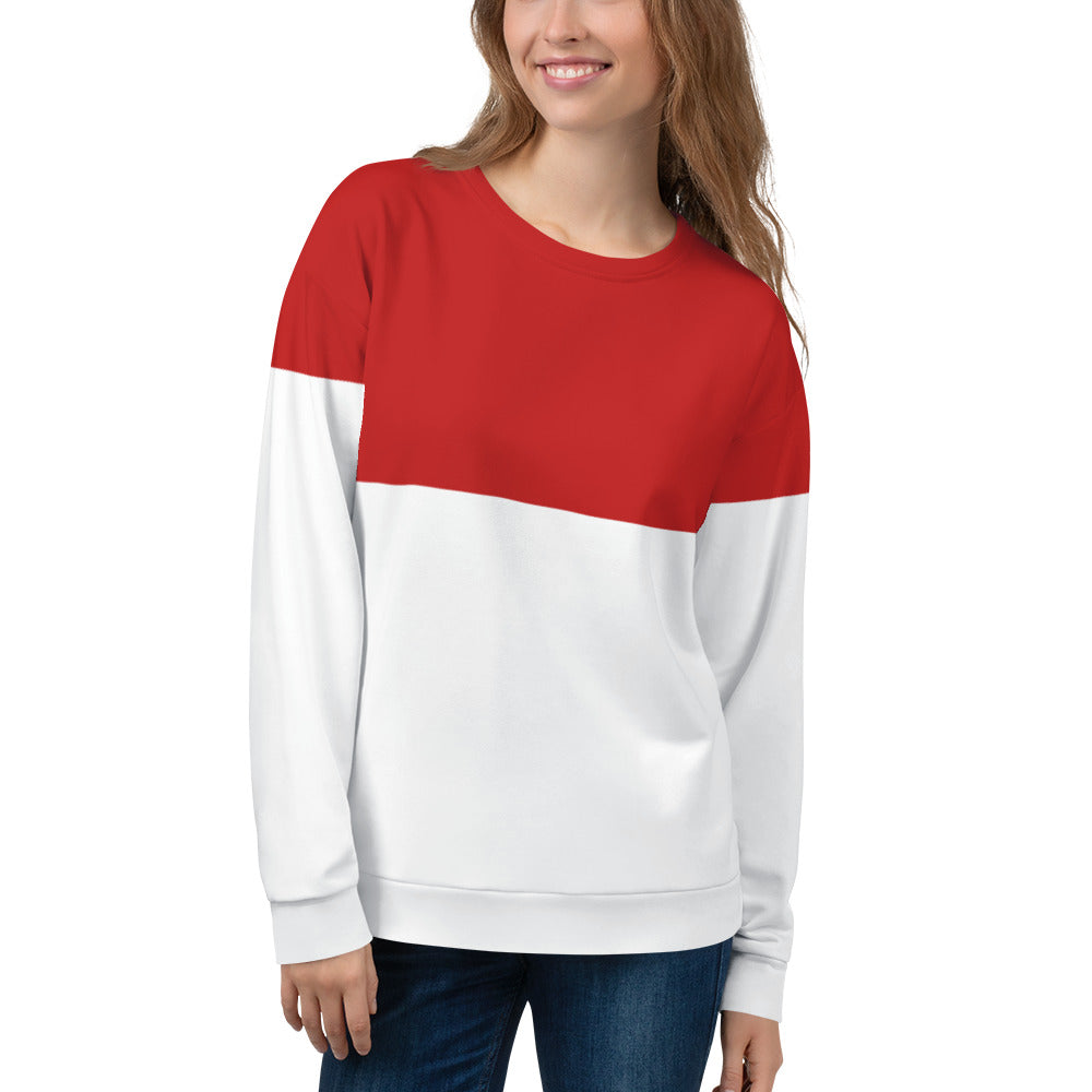 Red Ski Sweatshirt Back - Starcove Design