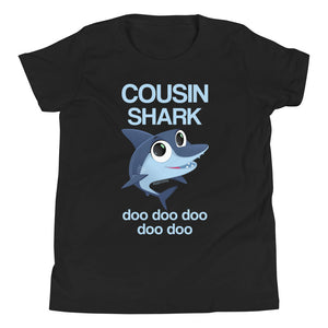 COUSIN Shark Doo Doo Youth Kids T-shirt Funny Gifts, Baby Shark Family Birthday Mama Daddy Boy Girl - Starcove Design