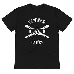 I'D Rather Be Skiing Eco Shirt, Ski Funny Skier Slopes Mountain Sports Vacation Gift, Eco Friendly Sustainable T-Shirt - Starcove Design