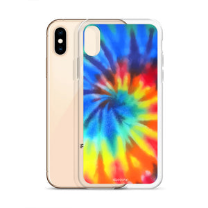 Tie Dye iPhone XR case, Rainbow Cute Blue Red Phone Case Gift, iphone 8 6 7 Xs Max Plus 6s - Starcove Design