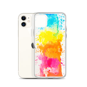 Colorful Paint Splatter iPhone 11 Pro Max Clear Case Art Print Cute Gift, Aesthetic iphone XS Max XR X 7 Plus 8 8F,  6s 6 Plus 5 5s 5e Phone - Starcove Design