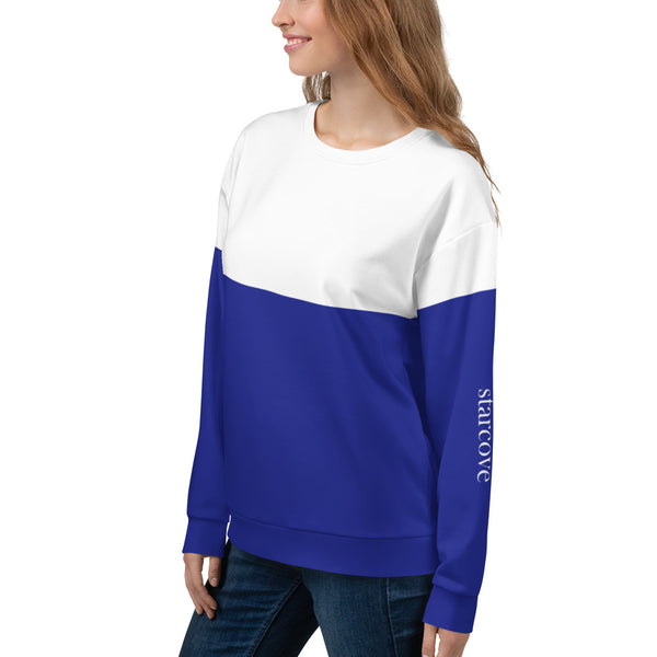 Ski Sweatshirt Royal Blue Back - Starcove Design