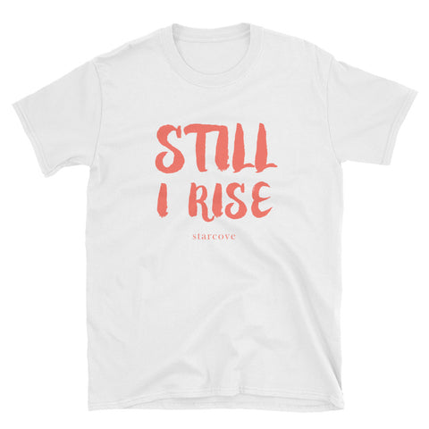 Still I Rise Shirt, Feminist Women's March, Gender Equality Political Activist Protest, Living Coral T-Shirt