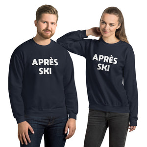 Apres Ski Sweatshirt Sweater, Vintage Typeface, Winter Party Skiing Chalet Men Women's Long Sleeve Top Clothes Gift - Starcove Design