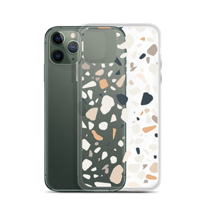 Terrazzo Abstract iPhone 11 Pro Max Case, Clear Modern Art Print Cute Gift Aesthetic iphone XS Max XR X 7 Plus 8 8F 6s 6 Plus 5 Cell Phone - Starcove Design