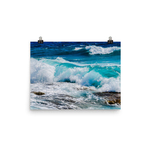 Ocean Waves Print Wall Art Matte Poster - Sea Photography - Starcove Design