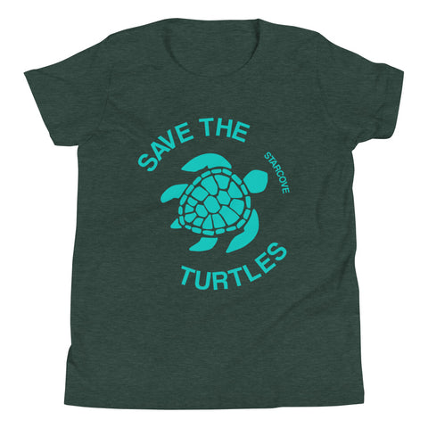 Save the Turtle Shirt, Vsco Teen Tween Girl, Sea Turtle Ocean Lover Gift Youth Kids Aesthetic Short Sleeve T-Shirt