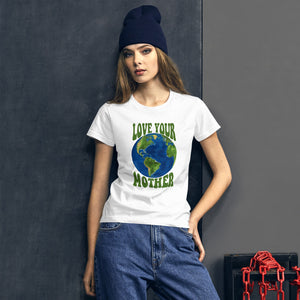 Love Your Mother Earth Shirt, Earth Day Art Climate Change, Save the Earth, Mother Goddess, Planet Earth, Women T-Shirt - Starcove Design