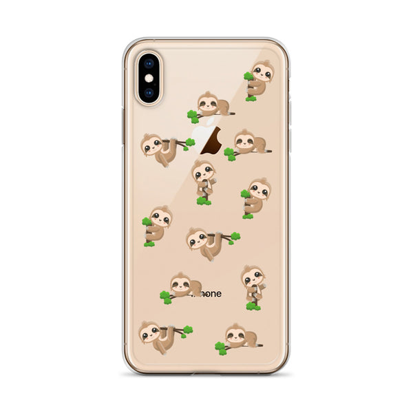 Sloth Clear iPhone 11  Pro Max Case, Phone Cute Sloth Design Lovers Print Cute Gift, Aesthetic iphone XS Max, XR, X, 7 Plus, 8 8F,  6s 6 Plus, 5 5s 5e - Starcove Design