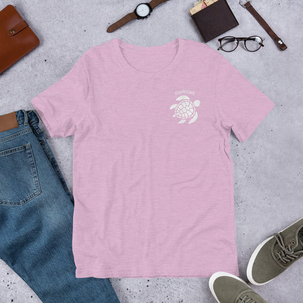 Sea Turtle TShirt Tee, Cute Embroidered Left Side Chest Beach Ocean Turtle Lover Gift Vsco Adult Size Girl Aesthetic Top T-Shirt - Starcove Design