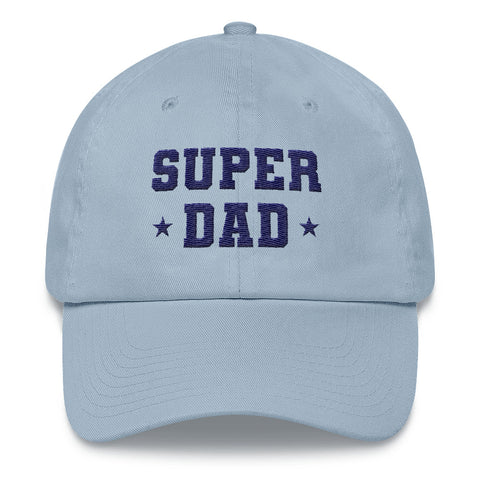Super Dad, Embroidered Dad hat, Cool Baseball Dad Hat Cap, Super Hero Father's Day Gift for Dad or New Dad to Be - Starcove Design