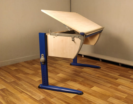 Imported Tilt-Top Drafting Workstation (Blue Metal Stand) - Premium Diplomat Goods