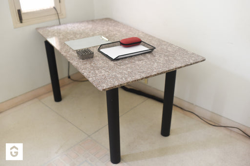 Lorenzo Marble Top Study Table - Premium Diplomat Goods
