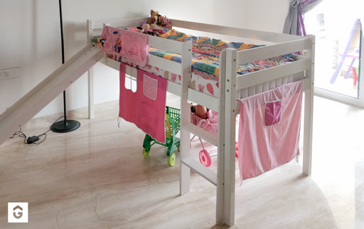 Kids Bunk Bed - Pink/White - Premium Diplomat Goods