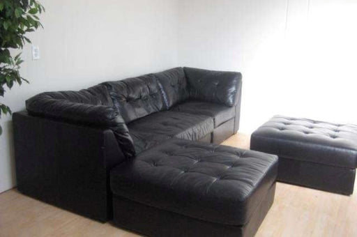 Leather sofa -  sectional with Ottoman - Premium Diplomat Goods