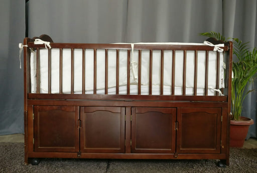 Imported bed for kids with mattress, wheels  and side grills - Premium Diplomat Goods
