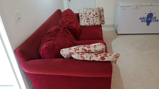 High-End Ethan Allen Red Sofa Imported from USA - Premium Diplomat Goods