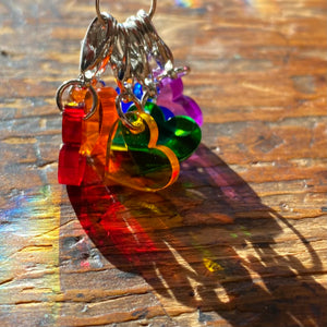 Heart Rainbow Stitch Markers