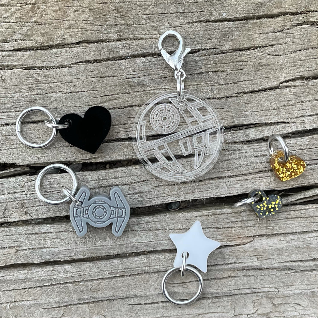 That's No Moon Stitch Marker Sampler