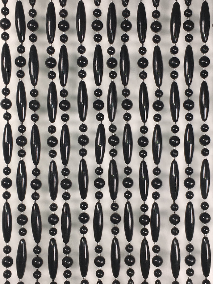 Piano Black Barcelona acrylic bead curtain for insect curtains and attractive room dividers
