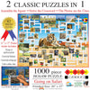 Puzzle Combo: Going on Safari 2n1 1000pc Jigsaw Puzzle