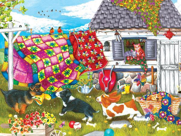 Backyard Pups 500pc Jigsaw Puzzle | Ashley Davis