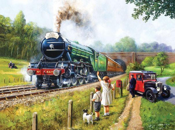Watching the Trains 1000pc Jigsaw Puzzle | Kevin Walsh