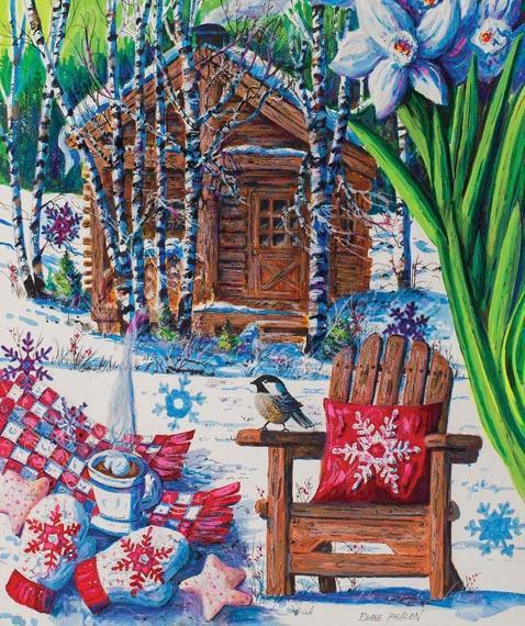 Mountain Cabin Fever 550pc Jigsaw Puzzle | Diane Phalen