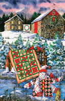 A Christmas Cheer Quilt 1000pc Shaped