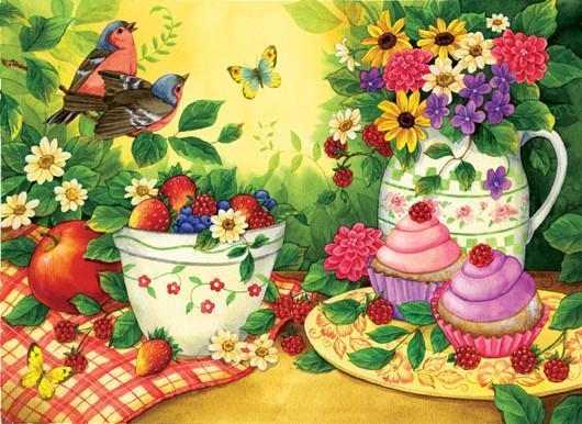 Cupcakes for 2 550+pc Jigsaw Puzzle | Jane Maday