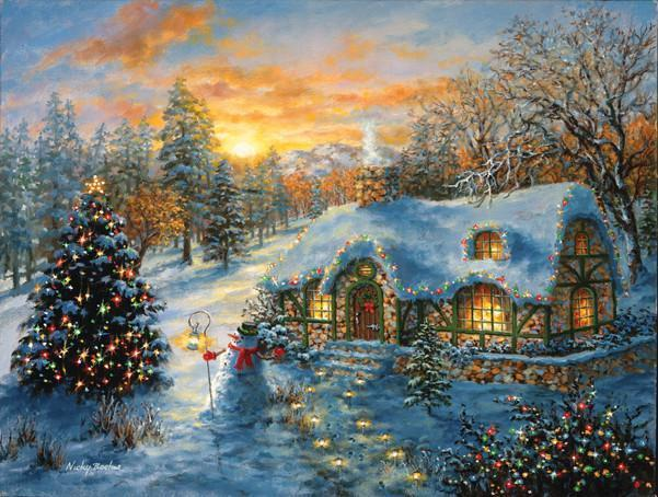 Christmas Cottage 500pc Jigsaw Puzzle | Nicky Boehme