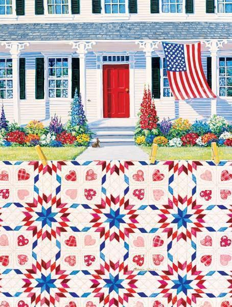 Red White & Blue 500pc Jigsaw Puzzle | Rebecca Barker