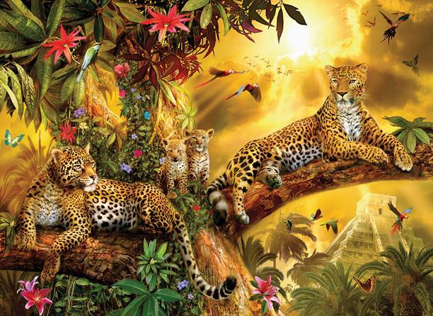 Jungle Jaguars 500+pc Jigsaw Puzzle | Jan Patrik Krasny