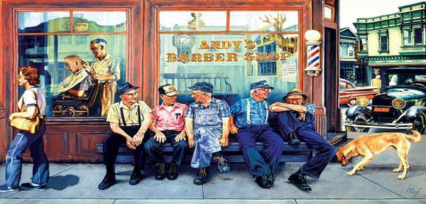 Andy's Barbershop Friends 1000pc Jigsaw Puzzle | Les Ray