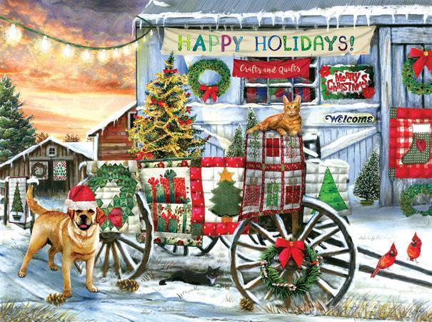 Holiday Wagon 1000pc Jigsaw Puzzle | Tom Wood