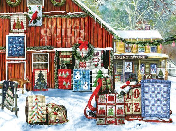 Holiday Quilts 1000pc Jigsaw Puzzle | Tom Wood