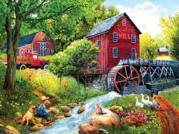Playing Hookey at the Mill 1000pc Jigsaw Puzzle | Tom Wood