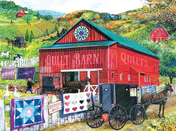 Stopping at the Quilt Barn 100pc Jigsaw Puzzle | Tom Wood