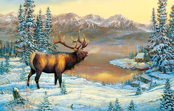 Elk by the Cabin 1000pc