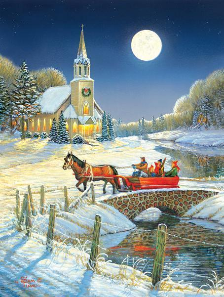 Evening Sleigh 500pc Jigsaw Puzzle | Sam Tim
