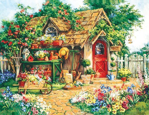 Gardener's Haven 1000+pc Jigsaw Puzzle | Barbara Mock
