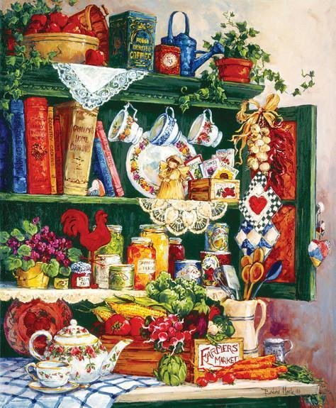 Grandma's Cupboard 1000pc Jigsaw Puzzle | Barbara Mock