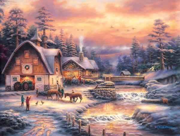 Country Holidays 500pc Jigsaw Puzzle | Chuck Pinson