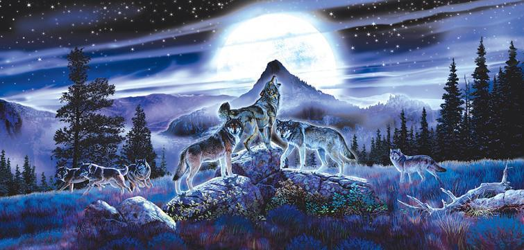 Night Wolves 1000pc Jigsaw Puzzle | Al Agnew