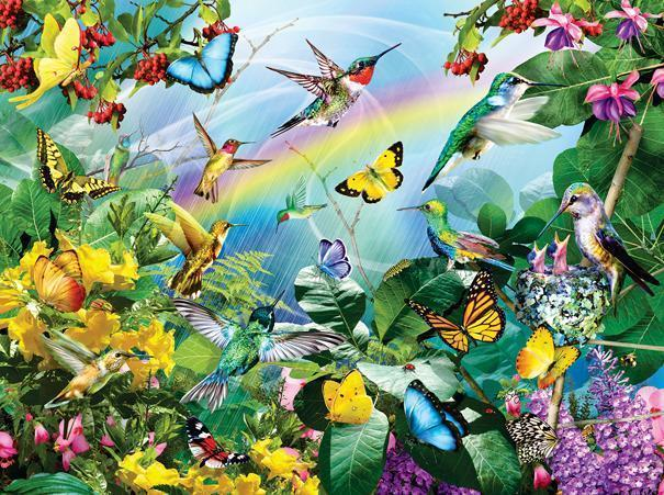 Hummingbird Sanctuary 1000pc Jigsaw Puzzle | Lori Schory