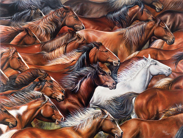 Horse of a Different Color 500pc Jigsaw Puzzle | Rick Unger