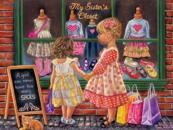 My Sister's Closet 500pc Jigsaw Puzzle | Tricia Reilly-Matthews