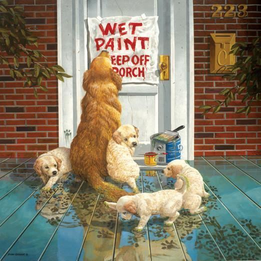 Wet Paint 1000pc Jigsaw Puzzle | Don Crook